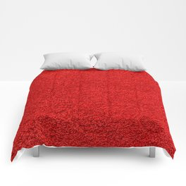 Rose Red Shag pile carpet pattern Comforters