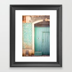 The mint door Framed Art Print