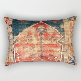 Konya Central Anatolian Prayer Rug Rectangular Pillow