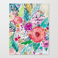 High by the Beach Floral Canvas Print