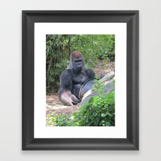 Gorilla Says Framed Art Print