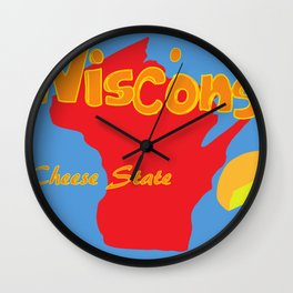 Cheese State Wall Clock