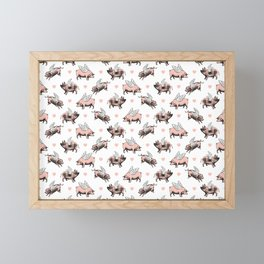 Flying Pigs Framed Mini Art Print