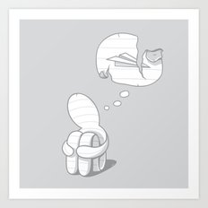 Broken dream Art Print