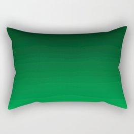 Happy Bright Apple Green Ombre Rectangular Pillow