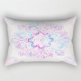 Winter Fiery Mandala Rectangular Pillow