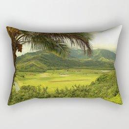 The Taro Fields of Kauai Rectangular Pillow