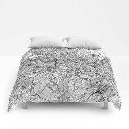Berlin White Map Comforters