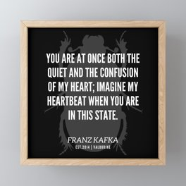 65 |  Franz Kafka Quotes | 190517 Framed Mini Art Print