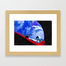 Tesla's Starman Framed Art Print