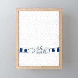 hug and snuggle Framed Mini Art Print