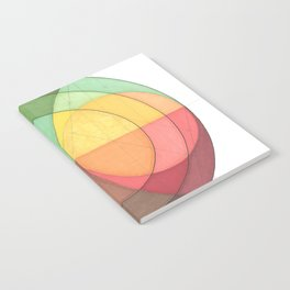 Concentric Circles Forming Equal Areas Notebook