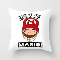 Psycho Mario Throw Pillow