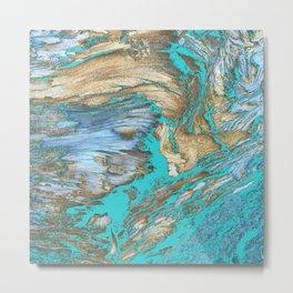 Woody Water Metal Print