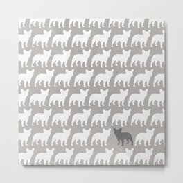 French Bulldog Silhouette(s) Metal Print