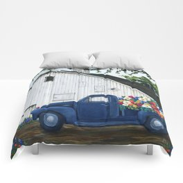 Flower Farm Truck Comforters
