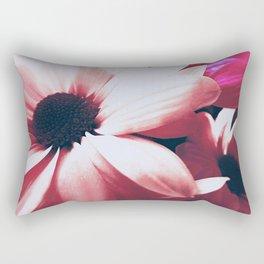 Pink Floral Rectangular Pillow