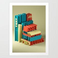 Typographic Insults #6 Art Print