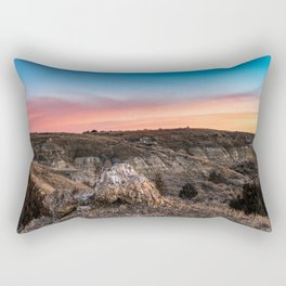Colorful Winter Sunrise in Theodore Roosevelt National Park Rectangular Pillow