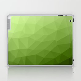 Greenery ombre gradient geometric mesh Laptop & iPad Skin