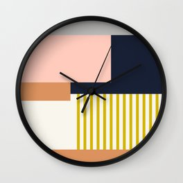Sol Abstract Geometric Print in Multi Wall Clock