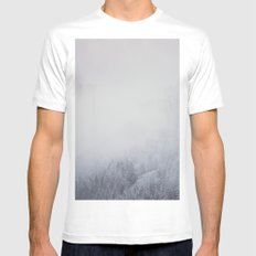 Frosted MEDIUM White Mens Fitted Tee