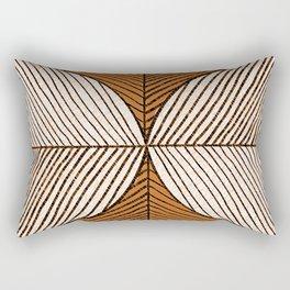 Minimal Tropical Leaf - Africa Tones Rectangular Pillow