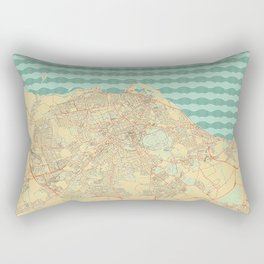 Edinburgh Map Retro Rectangular Pillow