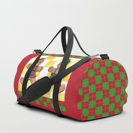Gingerbread Twins Duffle Bag