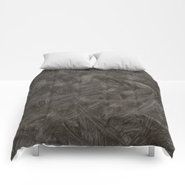 Black And White Brushstrokes Abstract Pattern Modern Art Comforters