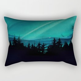 Magic in the Woods - Turquoise Rectangular Pillow