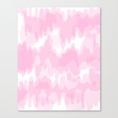 Blossom - Blush pink abstract art Canvas Print