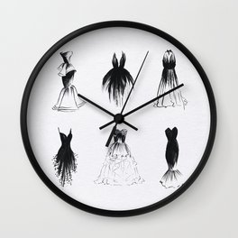 Little Black Dress Collection Wall Clock