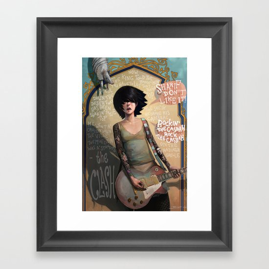 Rock the Casbah Framed Art Print