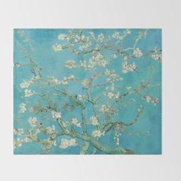 Van Gogh Almond Blossoms Painting Throw Blanket