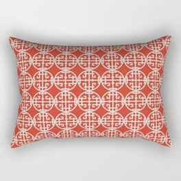 Asian screen - Red Rectangular Pillow