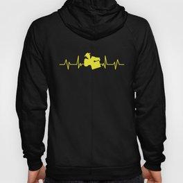Heartline beekeeper | EKG beekeeping heartbeat Hoody