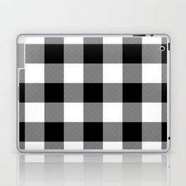 Black and White Buffalo Plaid Laptop & iPad Skin
