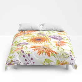 Floral print for spring Comforters