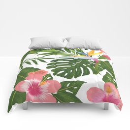 Jungle Floral Print Comforters
