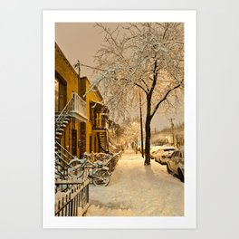 Montreal under the snow Art Print