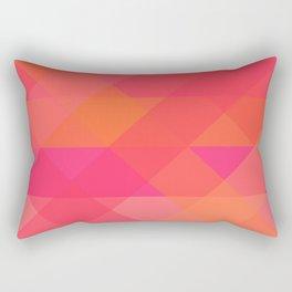 Peachy Triangles Rectangular Pillow