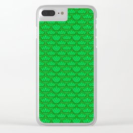 Sunny Summer Pixel Print Clear iPhone Case