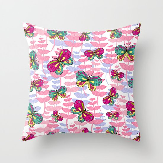 """My butterflies"" Throw Pillow"
