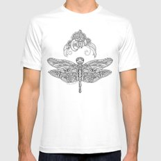 Fly with me through the wind, my dragonfly. White Mens Fitted Tee MEDIUM