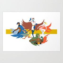Gatchaman Art Print