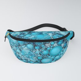 Ocean Atlantic Blue Bubble Abstract Fanny Pack