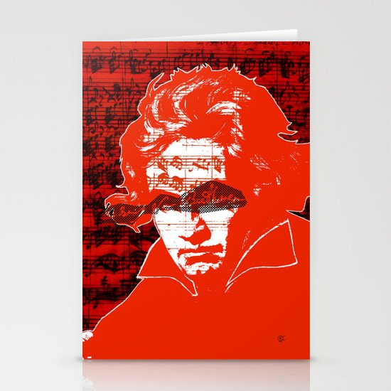 Ludwig van Beethoven · red10 Stationery Cards
