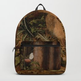 A Hare In The Forest Hans Hoffmann Backpack