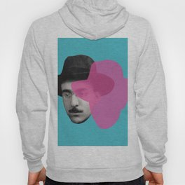 Fernando Pessoa Portrait - pink and blue Hoody